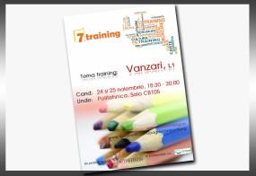 """Afis: """"Training Vanzari"""""""